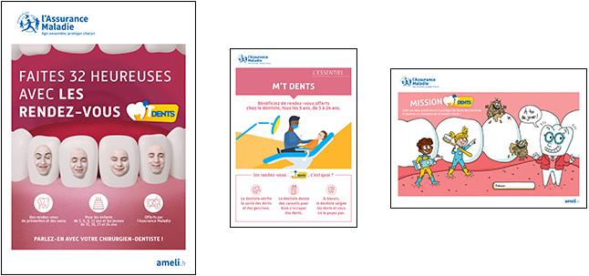 Affiche, flyer et quiz du kit pédagogique pour la campagne 2021 M'T dents
