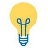 Picto : ampoule jaune innovation