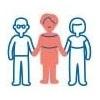 Picto : personnages se tenant par la main, solidarité
